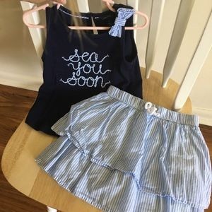4T nautica shirt and skirt outfit